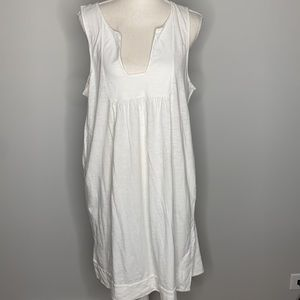 JCrew One Piece Cover Up Swim Large White